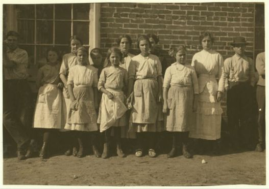 Child labor was still common in the state's cotton mills in the 1920s and '30s. This is a group of young workers at the Lumberton Cotton Mills in Lumberton, N.C. Courtesy, Library of Congress, Prints and Photographs Division