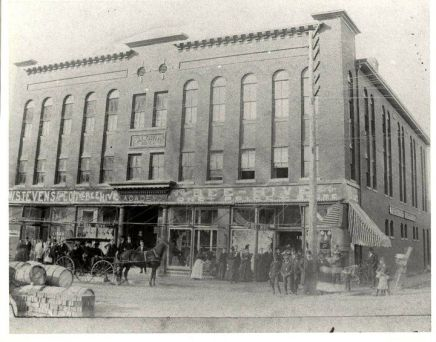 The R. J. Mitchell Department Store at the corner of Main and Poindexter St., Elizabeth City, N.C., ca. 1905. From the Fred Fearing Collection, Outer Banks History Center