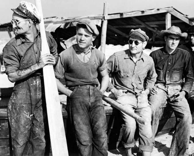 Mullet fishermen at Bald Head Island, N.C., 1938. Photo by Charles A. Farrell. Courtesy, State Archives of North Carolina