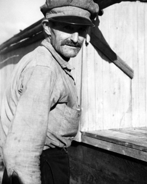 Unidentified man, probably a fisherman, Fulcher's Landing, 1938. Photo by Charles A. Farrell. Courtesy, State Archives of North Carolina