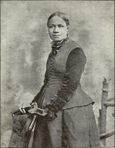 Poet, abolitionist and and suffragist Frances E.W. Harper (1825-1911). From L.A. Scruggs, Women of Distinction: Remarkable in Works and Invincible in Character (Raleigh, NC: L.A. Scruggs, 1893)