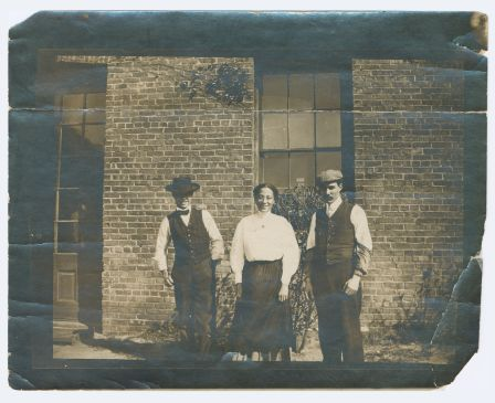 The staff of the Wilmington Daily Record in happier times. Courtesy, J. Y. Joyner Library, East Carolina University