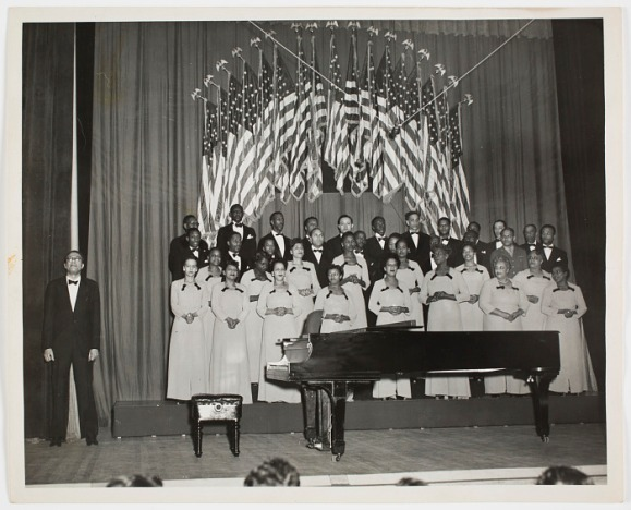 Hall Johnson (left) and the Hall Johnson Choir, ca. 1935-1952. Courtesy, Smithsonian National Museum of African American History and Culture