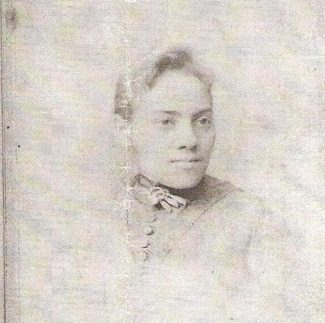 Portrait of Jane B. Collins, the sister of Yvette Porter Moore's great-great grandmother. Born into slavery in Craven County, N.C., in 1840, she and her husband Joseph A. Collins moved to Worcester after the Civil War. She was one of the early leaders of the Sons and Daughters of North Carolina in Worcester.