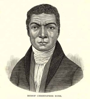 AME Zion Bishop Christopher Rush was born into slavery in Craven County, N.C., in 1777. From John Jamison Moore, History of the A. M. E. Zion Church in America. Founded in 1796, in the City of New York. (York, Pa.: Teachers' Journal Office, 1884).