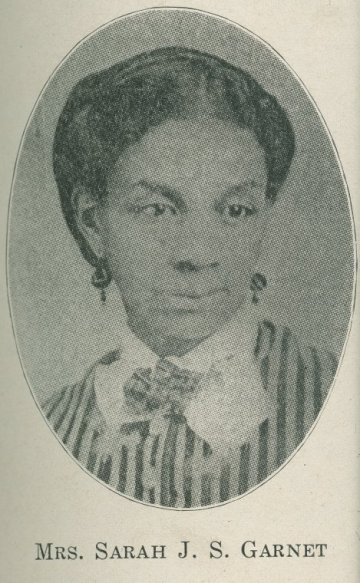 Sarah J. Garnet founded the Equal Suffrage League of Brooklyn to fight for African American women's voting rights in the 1880s. An ardent suffragist and civil right activist, she was also the first African American female school principal in New York City's public school system. Courtesy, New York Public Library