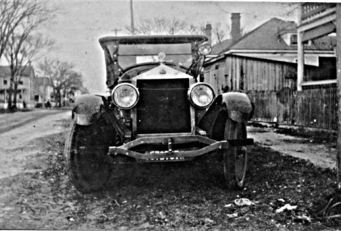 Probably Grand River, Ohio, ca. 1915-30. When Richard Whitehurt had his Moon ferried to the Straits, he wasn't being shy about letting the home folks know that he had made some money up on Lake Erie. It must have been one of the first automobiles in the Straits. The Moon Motor Co. built automobiles in St. Louis between 1905 and 1930. Courtesy, Giles Willis, Jr.